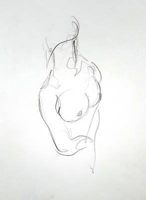 Female Nude Torso Poster