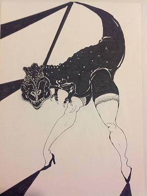 female T Rex Poster