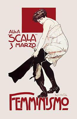 Feminism Italian C. 1920  Poster