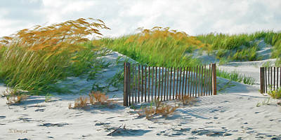 Fences In The Sand Poster