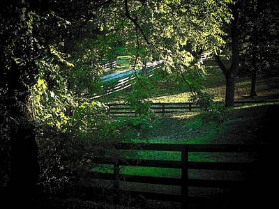Fences On The Farm Poster by Joyce Kimble Smith