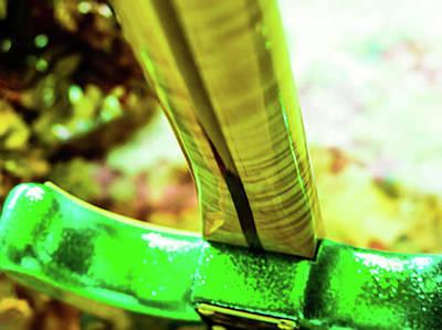 Custom Shop Stratocaster In Rare Green Sparkle Poster