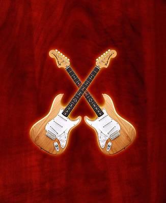 Fender Stratocaster Natural Color Poster by Doron Mafdoos
