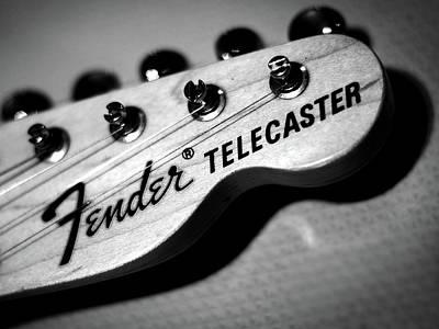 Fender Telecaster Poster by Mark Rogan