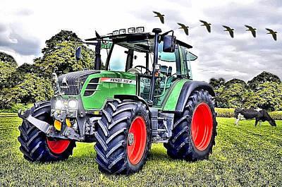 Fendt 312 Vario Tractor Poster by Thomas Schmidt