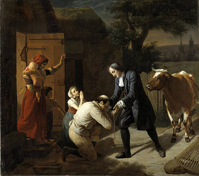 Fenelon Returns A Stolen Cow To A Peasant Poster by Louis Hersent
