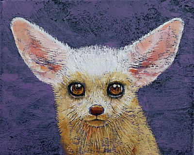 Fennec Fox Poster by Michael Creese