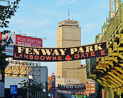 Fenway Park Banners Boston Ma Poster by Toby McGuire