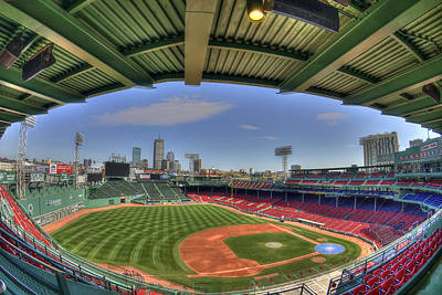 Fenway Park Interior  Poster by Joann Vitali