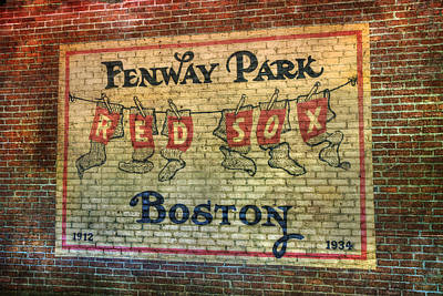 Fenway Park Sign - Boston Poster by Joann Vitali