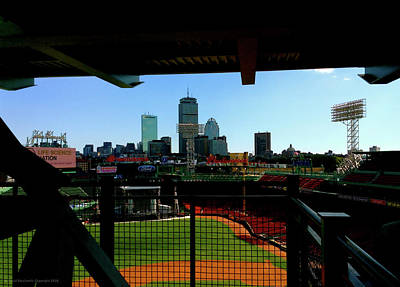 Poster featuring the photograph Fenway Park, Xi  by Iconic Images Art Gallery David Pucciarelli