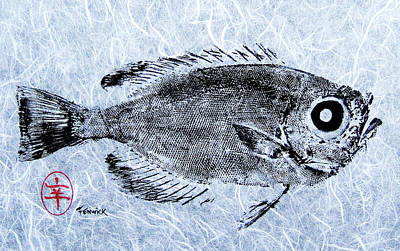 Fenwick Gyotaku Poster by Sam Fenwick
