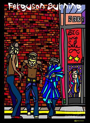 Ferguson Burning I Poster by Art by MyChicC