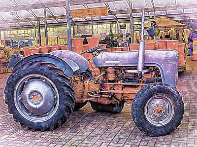Ferguson Tractor Poster by Dorothy Berry-Lound
