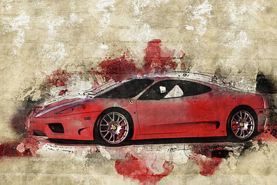 Poster featuring the photograph Ferrari 430  by Joel Witmeyer