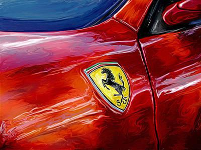 Ferrari Badge Poster by David Kyte