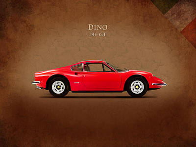 Ferrari Dino 246 Gt Poster by Mark Rogan
