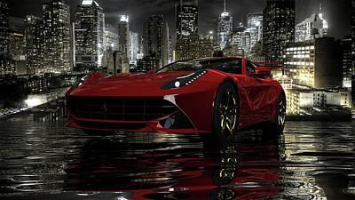 Poster featuring the photograph Ferrari F12berlinetta by Louis Ferreira