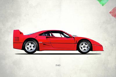 Ferrari F40 Berlinetta Poster