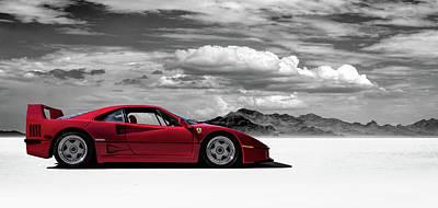Ferrari F40 Poster by Douglas Pittman