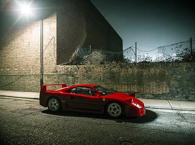 Ferrari F40 Lurking Poster