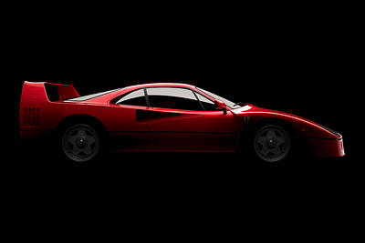 Ferrari F40 - Side View Poster