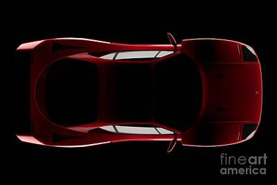 Ferrari F40 - Top View Poster