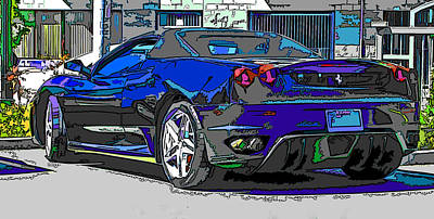 Ferrari F430 Spyder Poster by Samuel Sheats