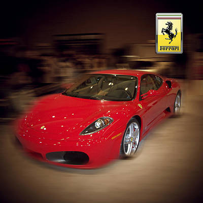 Ferrari F430 - The Red Beast Poster by Serge Averbukh