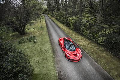 Ferrari Laferrari Country Drive Poster