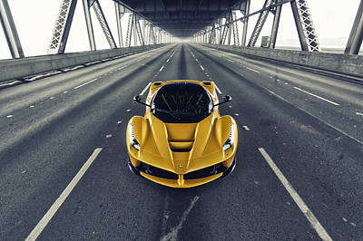 Poster featuring the photograph Ferrari Laferrari by ItzKirb Photography