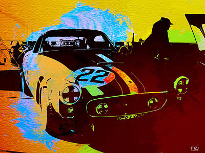 Ferrari Watercolor Poster by Naxart Studio