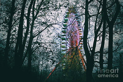 Ferris Wheel Poster by Ana Mireles