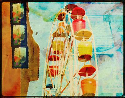 Ferris Wheel Fun Poster by Toni Hopper