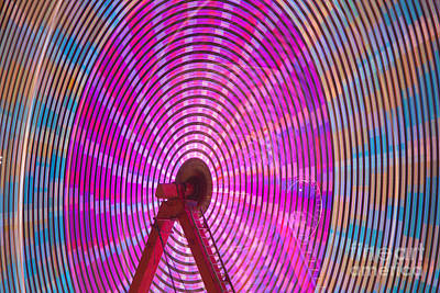 Ferris Wheel I Poster by Clarence Holmes