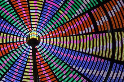 Ferris Wheel Night Colors Poster by Steven Bateson