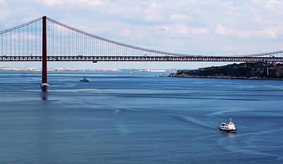 Poster featuring the photograph Ferry Across The Tagus by Lorraine Devon Wilke