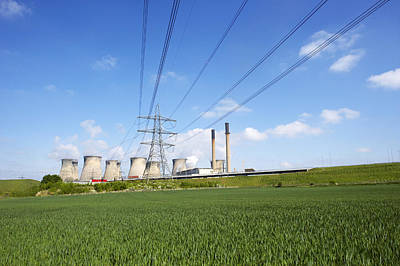 Ferrybridge Power Station And Rape Field Poster by Mark Sykes
