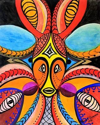 Fertility Mask #1 Poster by Mbonu Emerem
