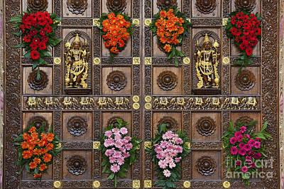Festival Gopuram Gates Poster by Tim Gainey