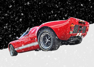 Festive Ford Gt40 Poster