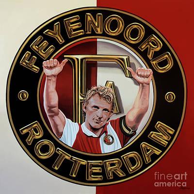 Feyenoord Rotterdam Painting Poster by Paul Meijering