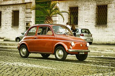 Fiat 500 Poster by Hristo Hristov