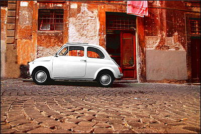 Fiat 500 Poster by Valentino Visentini