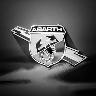 Fiat Abarth Emblem -ck1611bw2 Poster