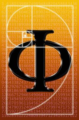 Fibonacci Spiral And Phi, Artwork Poster by Seymour