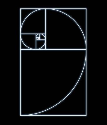 Fibonacci Spiral, Artwork Poster by Seymour