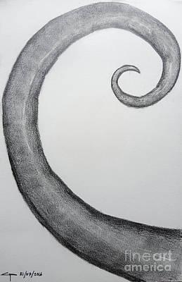 Fibonacci Spiral No.1 Poster