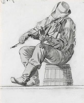 Fiddler Poster by George Caleb Bingham
