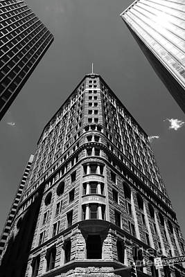 Fidelity Building In Black And White Baltimore Poster